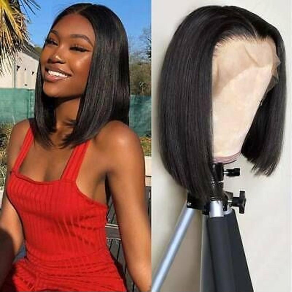 Short Lace Front Human Hair Wigs Bob Wig For Black Women 12inch Beaudiva Peruvian Human Hair Wigs