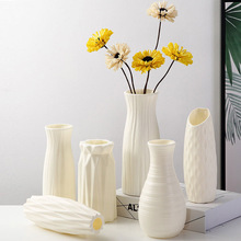 Plastic Vases Basket Decoration Flower-Pot Arrangement Origami Shatterproof Imitation-Ceramic