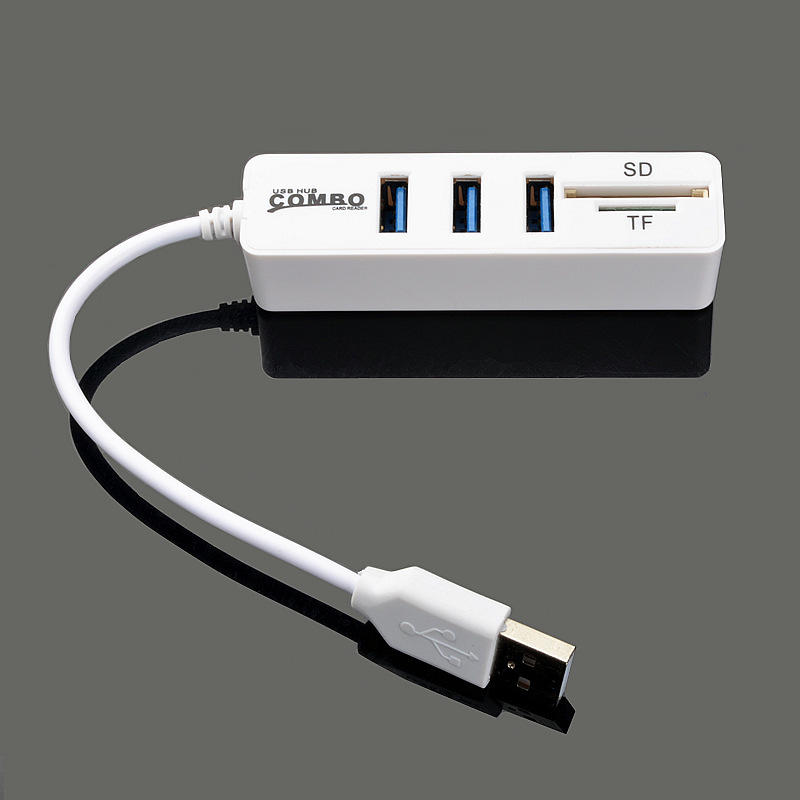 Image 2 - New USB 2.0HUB Hub with SD TF All in One Card Reader 3+2 Combo  Multi function Card Reader-in Card Readers from Computer & Office