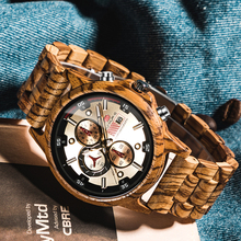 KUNHUANG 2020 High Quality Brand Multifunctional Casual Sports Wooden Watch Men'