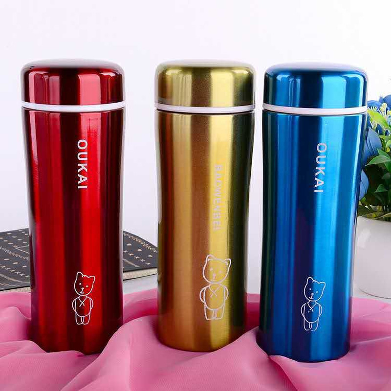 Stainless steel vacuum flask tea cup High temperature resistance Creative cartoon stainless