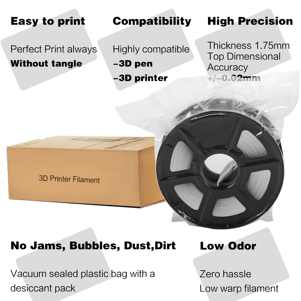 cheapest SUNLU 1KG 1 75MM ABS filament fast delivery colorful filament spool wire reprap 3D printer 1 75mm 1KG per roll