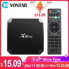 VONTAR X96 מיני אנדרואיד טלוויזיה תיבת X96mini אנדרואיד 7.1 חכם הטלוויזיה Box 2GB 16GB Amlogic S905W Quad Core 2.4GHz WiFi אנדרואיד 9.0 1GB8GB
