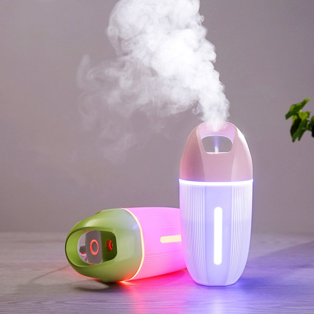 Mini USB 460ML Ultrasonic D6 Humidifier Air Humidifier Aroma Essential Oil Diffuser Aromatherapy for Office SPA Pakistan