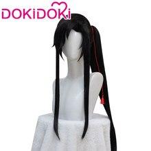 DokiDoki – perruque noire de Cosplay, Anime Tian Guan Ci Fu, Hua Cheng San Lang Ver