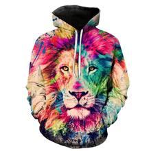 Gran oferta 2020 Otoño Invierno moda Animal Tigre, León y Gorill impresión 3D Sudadera con capucha hombres mujeres sudadera diseños Abrigo con capucha