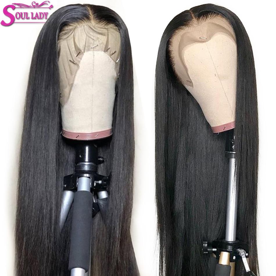 HD прозрачный Синтетические волосы на кружеве парики из натуральных волос для Для женщин бразильские волосы прямые Синтетические волосы на кружеве парики 13x4 предщипанный бесклеевой парик шнурка