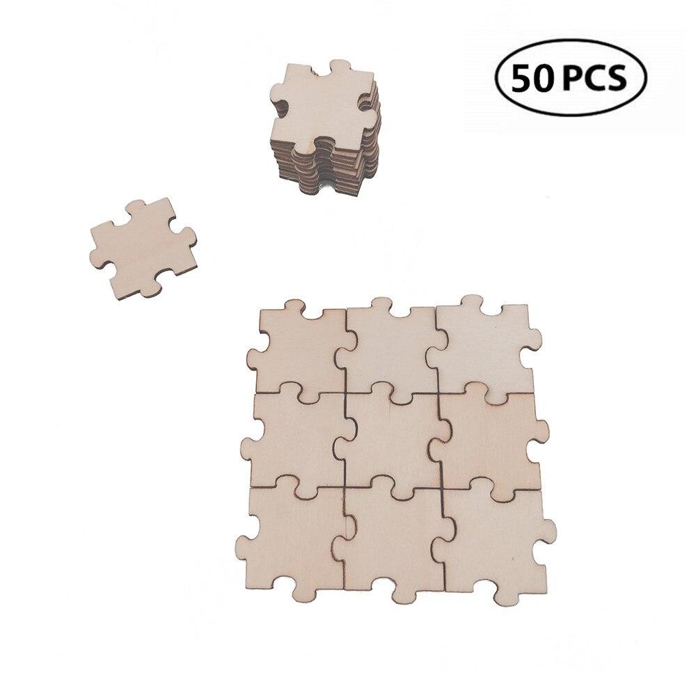 50 Uds. Puzle de madera de 20mm y con forma de 0,78 pulgadas puzle para manualidades diy, rompecabezas de madera sin terminar 1: 70 Kits de modelo de barco de madera ensamblado clásico de modelado de velero de madera de juguete de acorazado ofrecen instrucciones en inglés