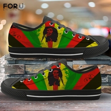 FORUDESIGNS Jamaican Flag Men's Shoes Casual Spring/Autumn L