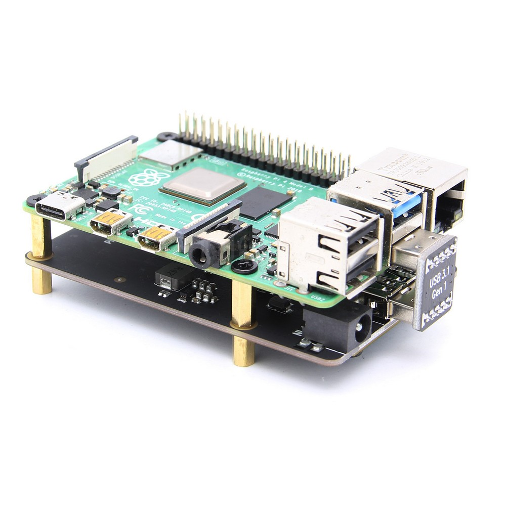 Image 3 - Raspberry Pi 4 mSATA SSD Storage Expansion Board X857 USB3.1 Shield for Raspberry Pi 4BDemo Board