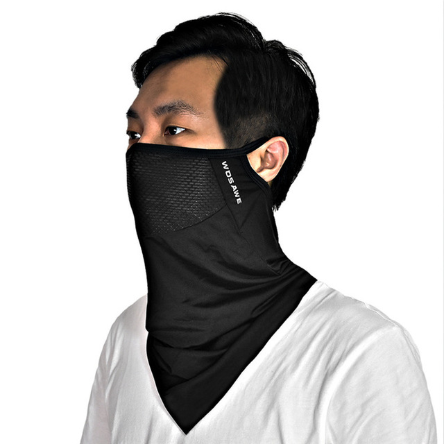Men Women Viscose Fiber Cycling Face Coverings Sunscreen Breathable Triangle Face Cover MTB Bike Outdoor Sports Face Mask Scarf 1