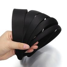 Черные пластиковые широкие повязки на голову 5 шт. 1,5/2/2, 5/3/4 см, плоская рамка для изготовления ювелирных изделий своими руками, аксессуары дл...