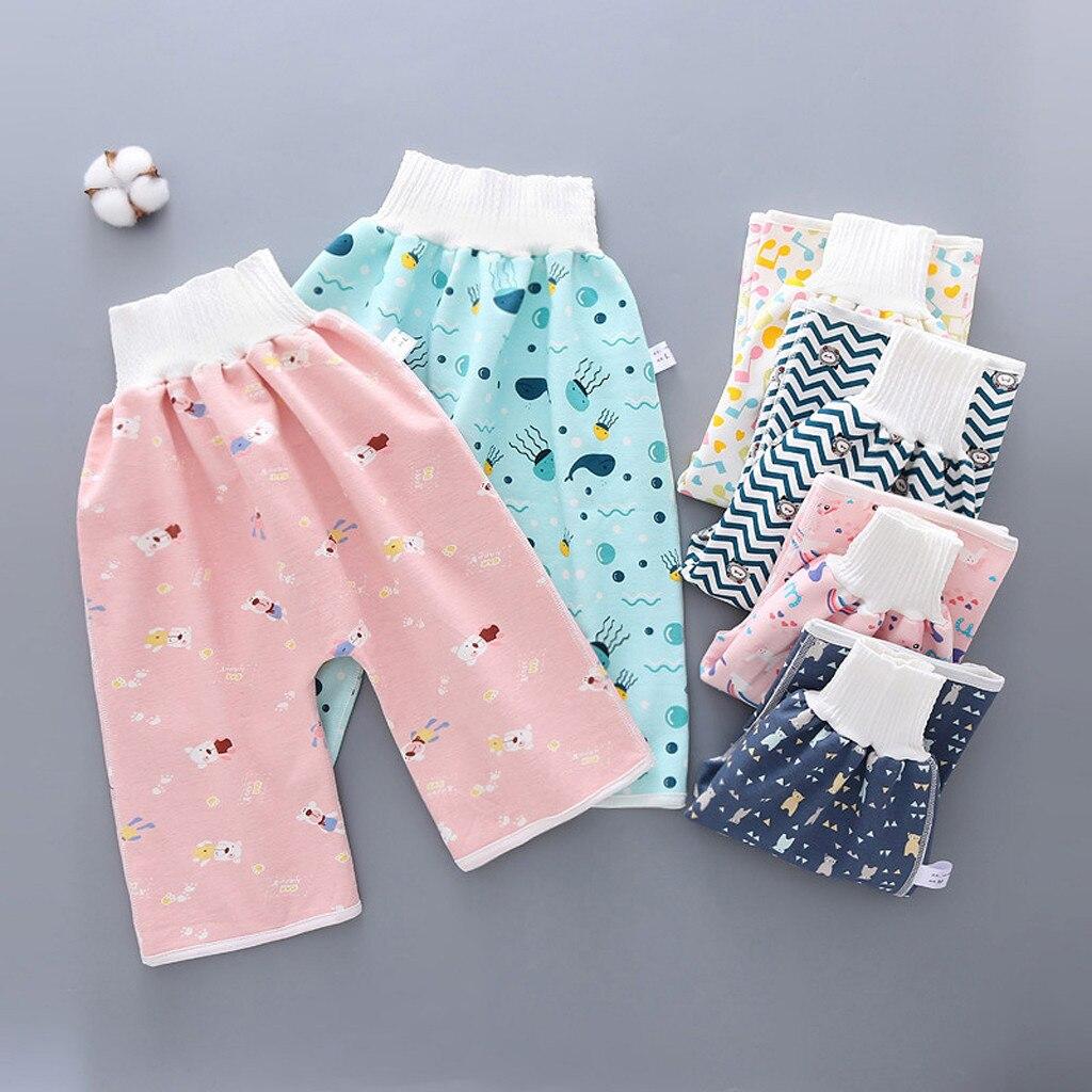 2020 bebê fralda saia calças saia fralda das crianças fralda lavável à prova dwaterproof água treinamento roupa interior fraldas reutilizáveis calças