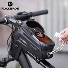 ROCKBROS bolsa para teléfono frontal para bicicleta, resistente al agua, con pantalla táctil, para 5,8/6 Accesorios