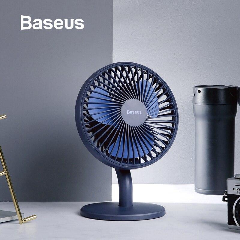 Baseus Mini USB Recarregável Air Cooling Fan Desk Cooler Fan Ventilador de Casa Cama Dormitório Estudantil Ventiladors em Mesa de Escritório Portátil