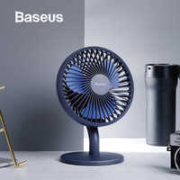 Baseus Mini USB Rechargeable Air Cooling Fan Desk Cooler Fan Home Student Dormitory Bed Portable Ventiladors Desktop Office Fan