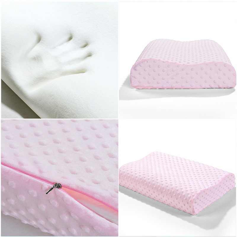 50X30X9 cm suaves fundas para almohadas rebote lento espuma de memoria espacio fundas de almohada cuello Cervical cuidado de la salud memoria funda de almohada