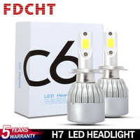 FDCHT H1 h11 led h4 h7 led żarówka reflektora samochodu światła samochodowe 3000k8000k psx24w h15 h27 d1s d2s d4s 24v hb3 hb4 h8 h3 turbo super lampa