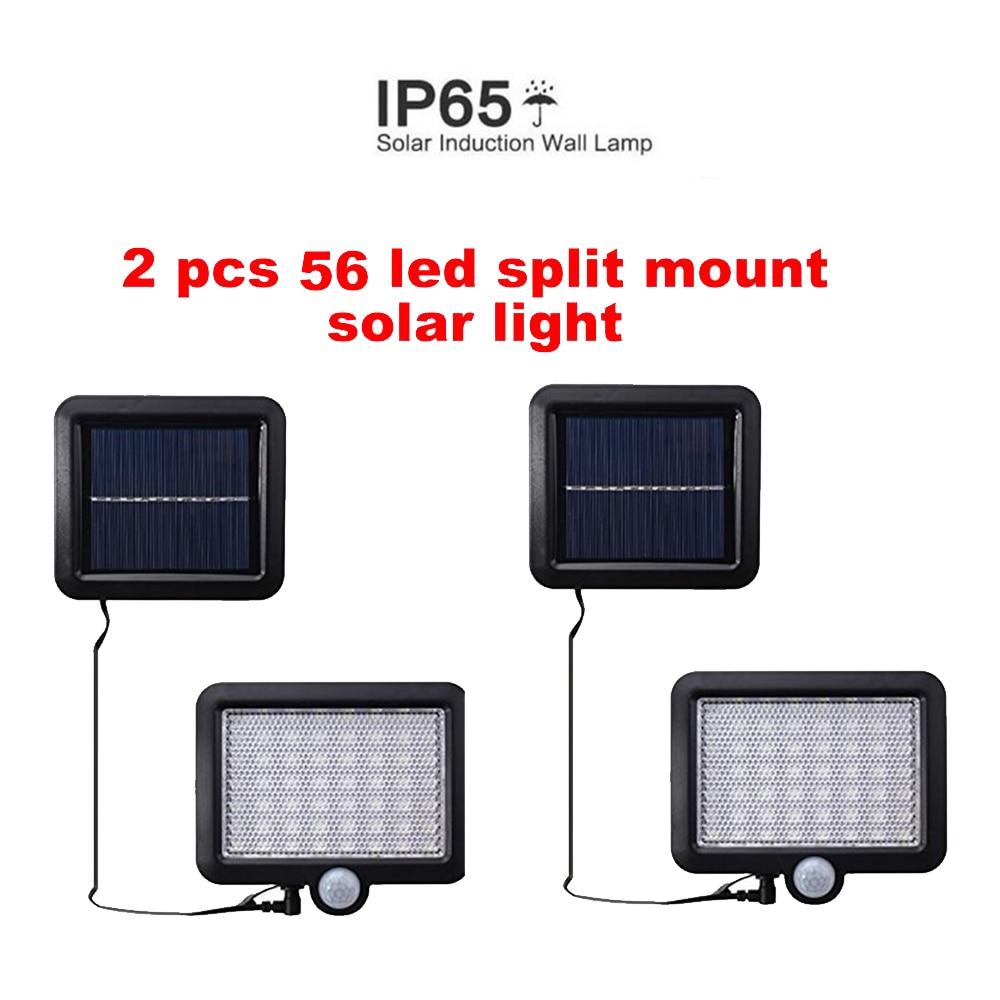 2/4pcs 100/56/30 Leds Solar Light Illumination PIR Motion Sensor Wireless Solar Light Waterproof Outdoor Garden Wall LED Light S