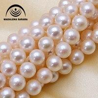 MADALENA SARARA 9 10mm AAA Freshwater Pearl Genuine Natural Pearl Pink White Purple For DIY Jewelry Making 18 Factory Wholesale