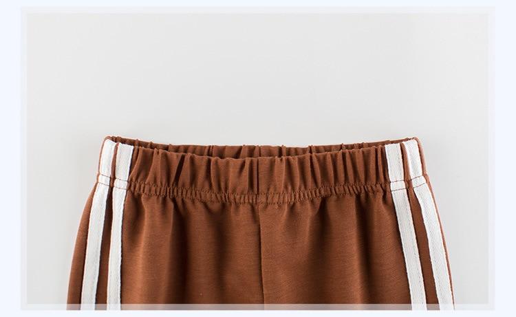 Children's School Sports Pants 19 New Girls pants Autumn Boys sports Trousers Girls Baby Cotton Stripes Leggings 8
