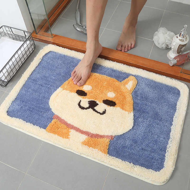 Flocking Anti Slip Doormat Absorb Water