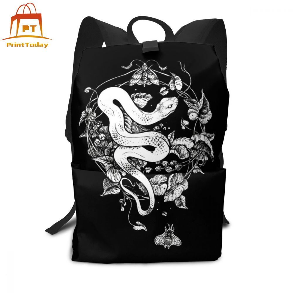Snake Backpack Snake Backpacks Trend Man - Woman Bag Street Multi Pocket Student Print High Quality Bags