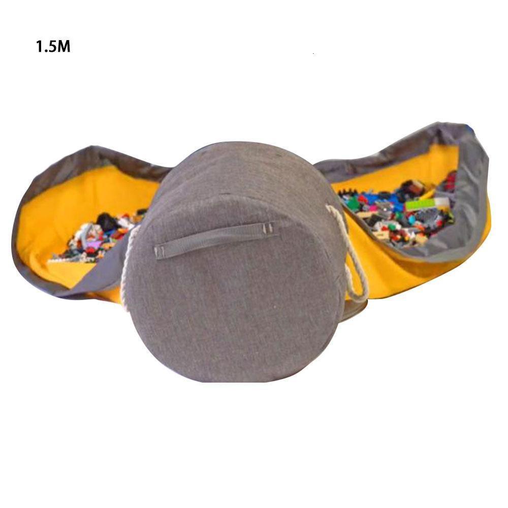 Besince Slideaway Toy Storage Basket and Play Mat Toy Storage Organizer Baskets Bag in Toys Travel Mat Diameter