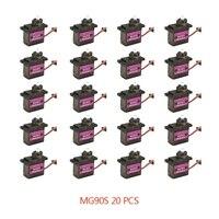 4/5/10/20PCS MG90S Metal Gear RC Micro Servo 13.4g Motore Per ZOHD Volantex aereo Per RC Helicopter Car Boat Modello Giocattolo di Controllo