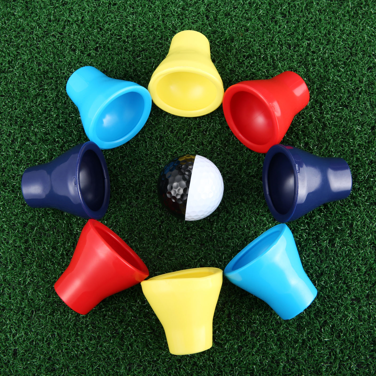 2Pcs Golf Training Aids Rubber Golf Balls Retriever Pick Up Tools Ball Putter Grip Retriever Device Pick-up Suction Cup Tools