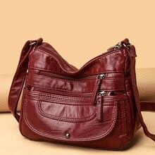 Ladies Luxury Brand Handbags Sac A Main Crossbody Bags for Women 2021 Leather Shoulder Bags Female Messenger Bag Soft Flap Bag