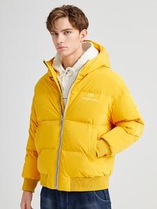 Image 3 - Pioneer Camp Fashion Men Winter Duck Down Jacket Solid Warm Simple Waterproof Zipper Pocket High Quality Jackets Men AYR903431