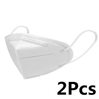 2Pcs Pm2.5 Dust Masks Reusable FFP2 FFP3 KN95 Mask Face Mask N95 Protection Face Mask Mouth Cover Filter Dust Proof Protection 2