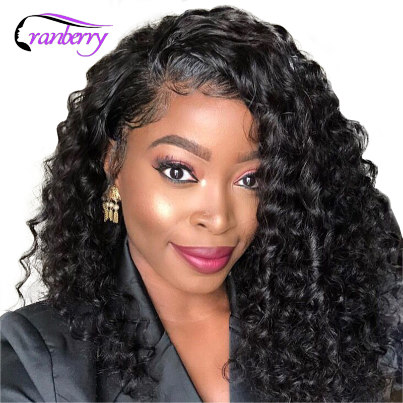 Cranberry Hair 13x4 Lace Front Wig Short Deep Wave Wig Indian Hair Remy Human Hair Bob
