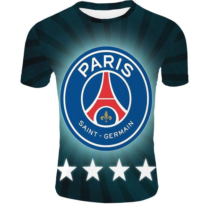 2020 Paris Saint Germain T Shirt Soccer Jersey O-Neck 3D T Shirt Racksuit Psg Men's 3D T Shirt Nymar Mbappe Cavani Sports Jersey