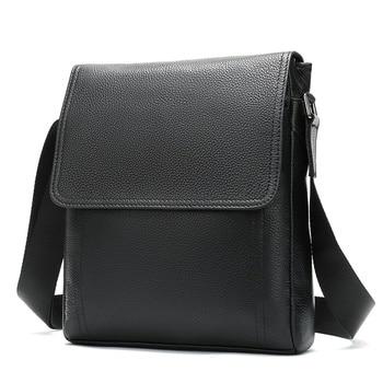 WESTAL Men's Genuine Leather Shoulder Bag For Men Casual Crossbody Man Handbag Messenger Bag Male Side Bags Guarantee Men's Bags - 8041A4black, China