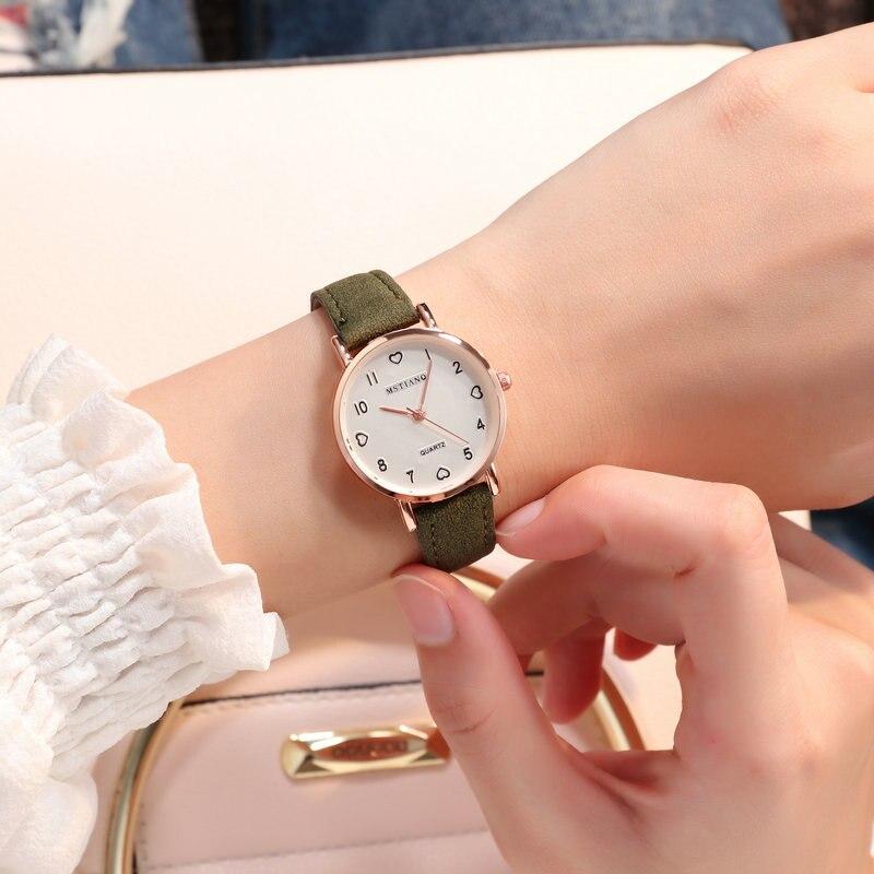 2019 Women's Watches Simple Luxury Korean Style Ladies Watch Women Party Wrist Watch Romantic Rhinestone Designer Saati