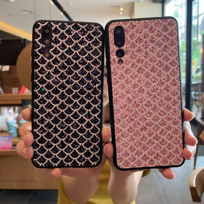 Bling Sequins Diamond Soft Case Cover For Huawei P20 P30 Mate 20 30 Nova 3 3i 4 5 5i  Honor 8X 8A 10 10i 20 20i 9X Lite Pro Capa