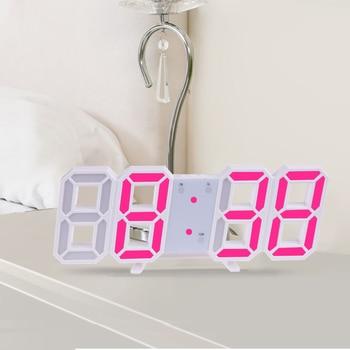 3D Large LED Digital Wall Clock Date Time Celsius Nightlight Display Table Desktop Clocks Alarm Clock From Living Room 9