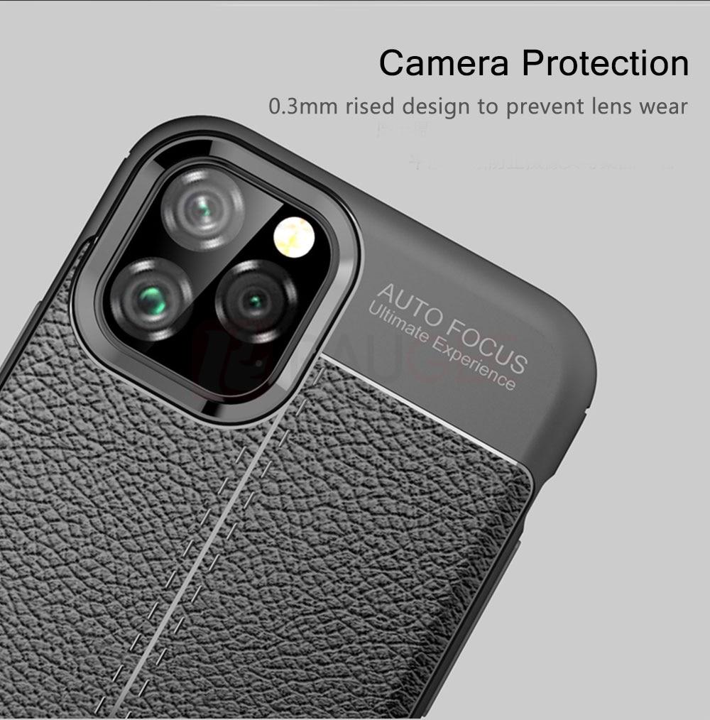 H564babb572e546aeba1ffb5e6db17acfC Leather Case For Iphone11 11 Pro Case Cover Luxury Silicon Bumper Phone Case on For Iphone 11 Pro Max 11 Pro Funda Cover