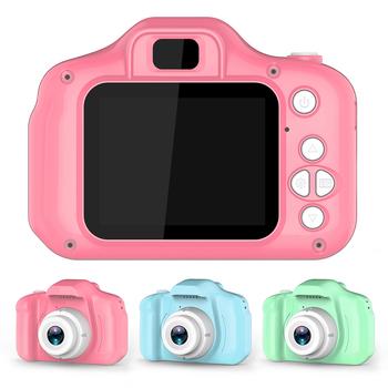 Dzieci dzieci aparat zabawki edukacyjne dla dziecka prezent Mini aparat cyfrowy 1080P projekcji wideo kamera z 2 calowy ekran wyświetlacza tanie i dobre opinie Wottler RUBBER CN (pochodzenie) 3 lat Built-in battery Unisex Kids Mini Digital Camera Toy Brzmiące Keep away from fire!