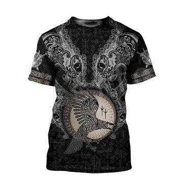 Tessffel NewFashion Viking Symbol Tattoo Viking Warriors Harajuku Unisex 3DPrint Summer Short Sleeve Streetwear T-shirts A4 2