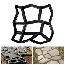 Garden Path Maker Mold Irregular Concrete Stepping Stone Cement Mould Floor Road Driveway Reusable Brick
