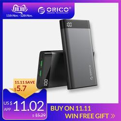 Orico 10000 mah power bank dupla usb 5v2a com tela de exibição poverbank portátil bateria externa para xiaomi telefone móvel