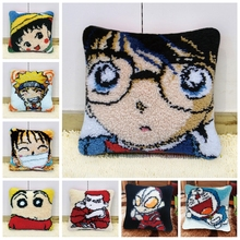 Detective Conan DIY Needle For Carpet Embroidery Pillow Smyrna Latch Hook Rug Do-It-Yourself Carpet Kits Handmade Needlework H иглы latch needle sk 860