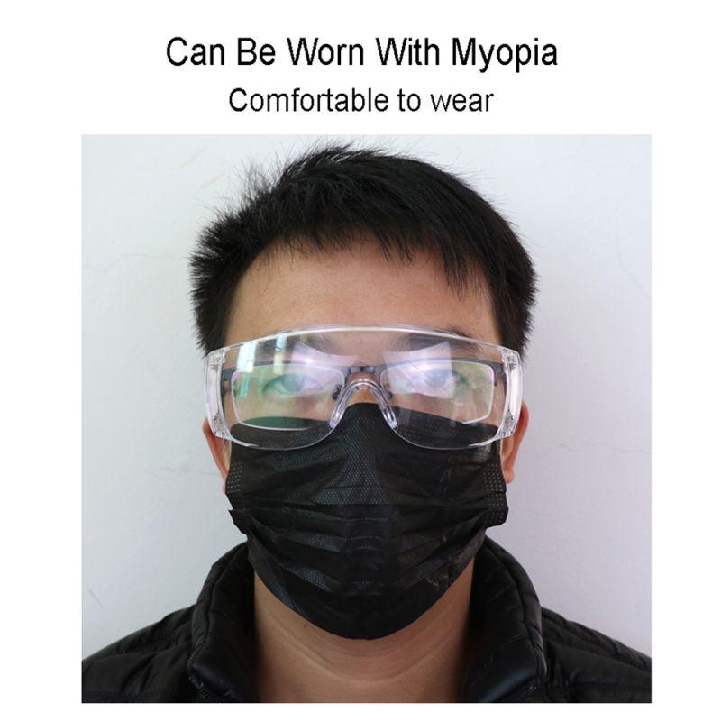 Anti Virus Glasses Unisex High Definition Fog Blocking Anti-dust  Anti Drool-proof Goggles Adults Mask