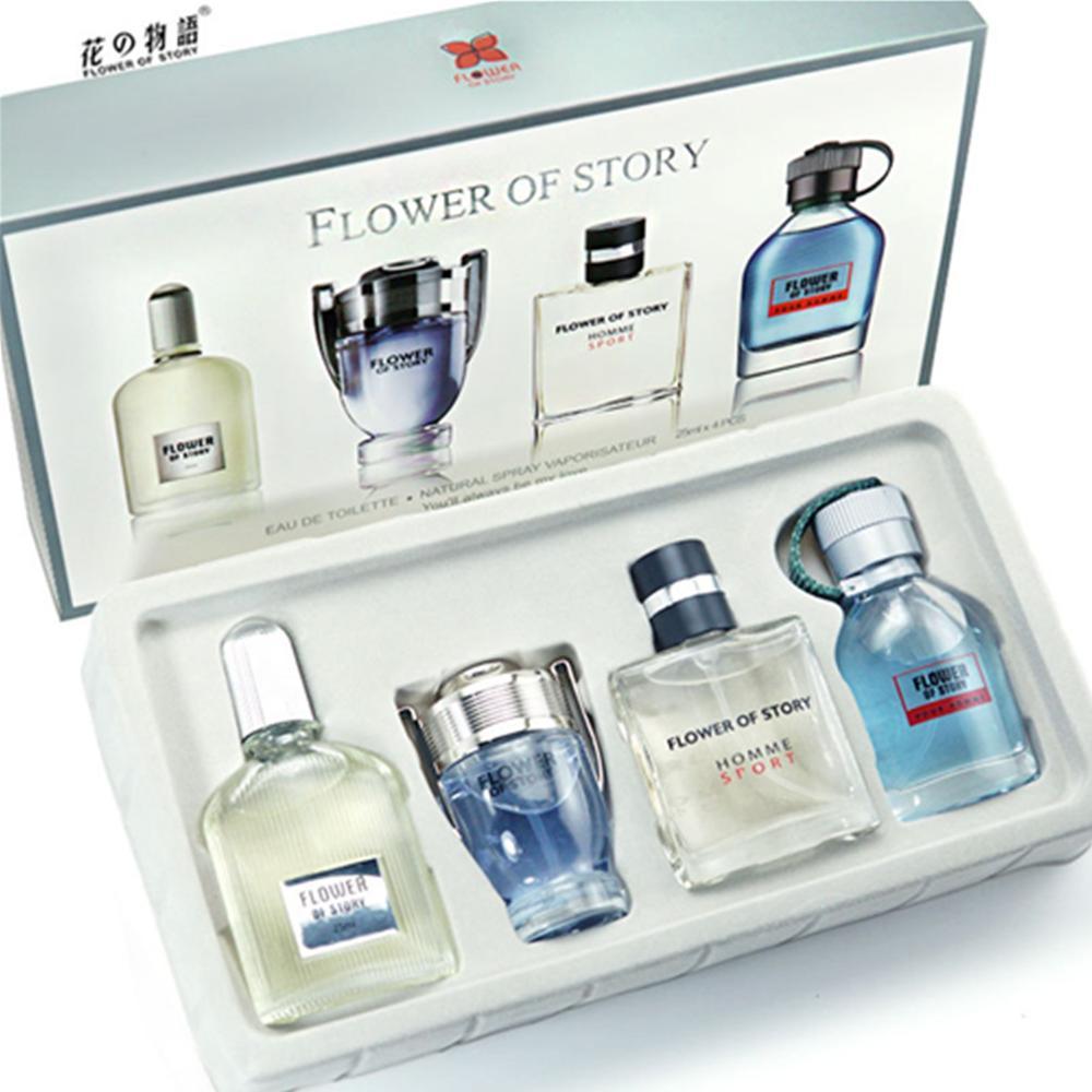 1 Set 4Pcs Men Perfumed Long Lasting Fragrance Mini Bottle Portable Perfumed For Men Lasting Spray Glass Bottle 100ML Parfums