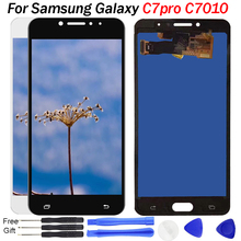 Tested LCD For SAMSUNG Galaxy C7 Pro LCD Disiplay C7010 Touch Screen Digitizer Assembly Replacement For C7 Pro C7010 Display LCD все цены