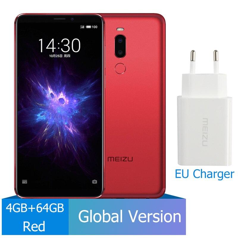 Meizu Note 8, 4 ГБ, 64 ГБ, глобальная версия, мобильный телефон Snapdragon 632, четыре ядра, Note8, смартфон, полностью металлический корпус, двойная камера заднего вида - Цвет: EU Charger Red
