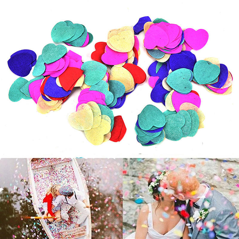 12g Heart Confetti Love Wedding Party Romantic Table Decoration Colored Wedding Throwing Heart Shaped Paper Accessories